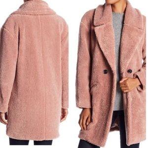 Lucky Brand Teddy Bear Faux Fur Blush Jacket